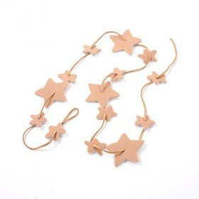 Garland  suede stars thonged 120 cm