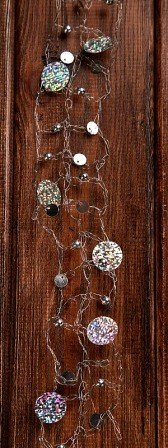Garland wire silver with circles 6 cm / 150 cm