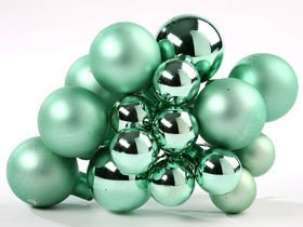 Glass balls on wire, 20- 30 mm, bunch of 18 pcs