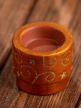 Gold candle holder 6.5cm