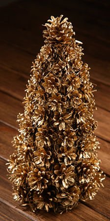 Gold holiday tree 25-30cm