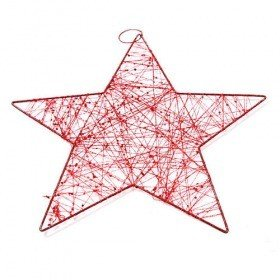 Hanger - wiry star with sequins, 25 cm
