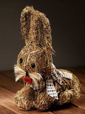 Happy bunny (Hannah Collection) of fragrant ecological hay - ca. 25 cm