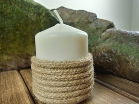 Jute candle 60/60 mm