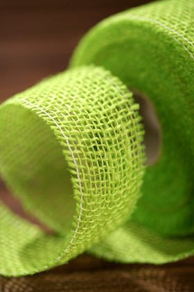 Jute ribbon 5cm x 5m - green