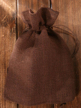 Jute sack 18/ 26 cm brown