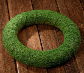 Jute wreath green ca. 25 cm