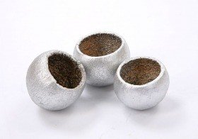 Lacquered Bell cup mini 12pcs./pkg, silver