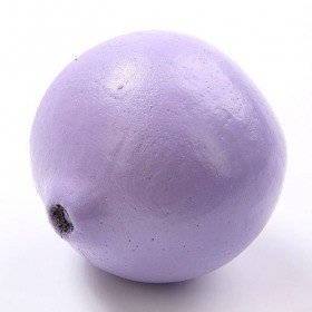 Lacquered Lignified fruit ball 6-8 cm, purple