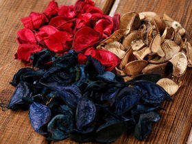 Leaves big holiday mix 100 g natural-navy blue-red