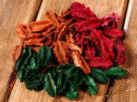 Leaves big holiday mix 100 g red-orange-green