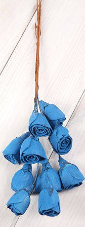 Lily midi on wire 30pcs blue