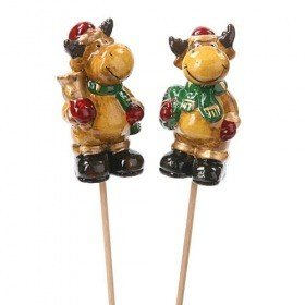 Moose with scarf on stick 7/28 cm