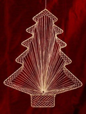 Natural Christmas Tree pendant, length 50 cm,