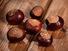 Natural chestnuts 12pcs/pkg