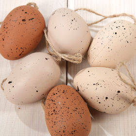 Natural eggs - hanger 6 cm 6 pcs/pkg