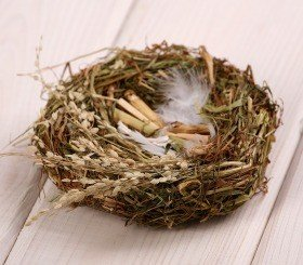 Natural nest with cereal 10-12cm