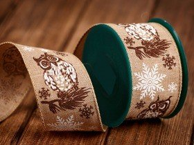 Natural ribbon 6cm/ 5m