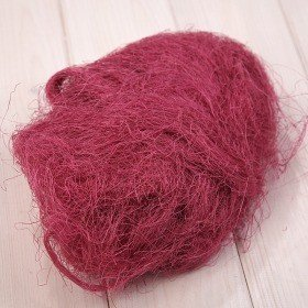 Natural sisal, prepacked, 50 g, bright pink