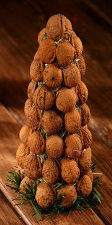 Nutty natural holiday tree