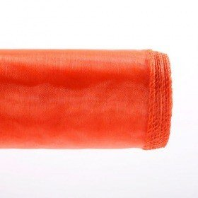 Organza GD 12 cm, 9 m long, hemmed, orange
