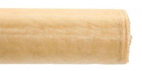 Organza, trimmed 40 cm, length 9 rm (coffee with milk)
