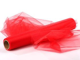 Organza, trimmed 40 cm, length 9 rm (red)