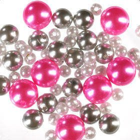 Original set (K) pearls 50 g ca. 250 pcs. silver-white-pink