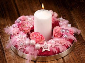 Pink Christmas Arrangement