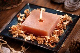 Potpourri Set with candle- Sandalwood