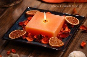 Potpourri Set with candle- Sunny oranges