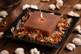 Potpourri Set with candle - brown