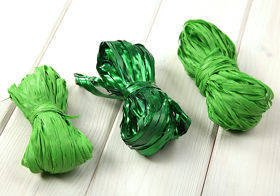 Raffia 3x 15m / W:2cm GREEN (mix 9)