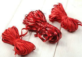 Raffia 3x 15m / W:2cm RED (mix1)