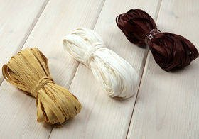 Raffia 3x 15m / W:2cm WHITE-CREAM-BROWN (mix 3)