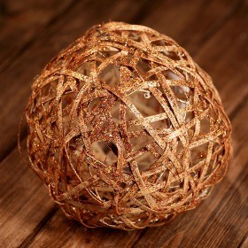 Rattan glittered ball, 20cm