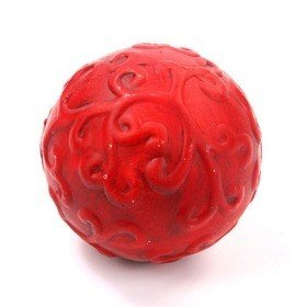 Red ceramic ball, 8,5 cm