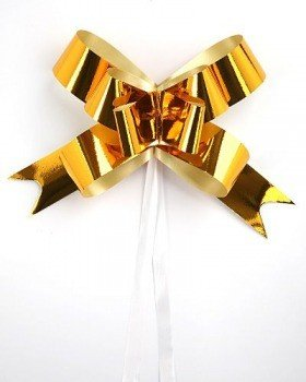 Ribbon of gold, width of ribbon 1 cm 50 pcs.