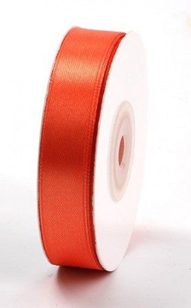 Ribbon satin width 15 mm length 35m dark orange (04) (29)