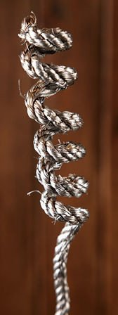 Rope with a wire 50 cm - silver - 10 pcs/pkg