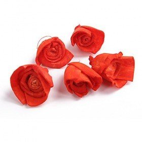 Rossario flowers, 3 cm, 24 pcs/pkg - light red PTOMOTION