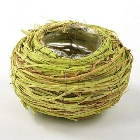 Round basket, 16 cm diameter, green