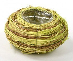Round basket, 21 cm diameter, green