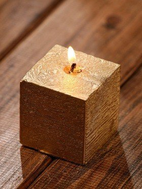 Rustic candle 50/50mm gold