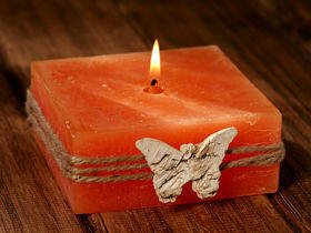 Rustic candle with orange fragnance 60/60 mm