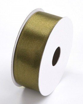 Sateen ribbon 6 mm 35 m - dark olive (20)
