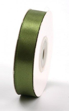 Sateen ribbon width 15 mm length 35 m -  olive (20)