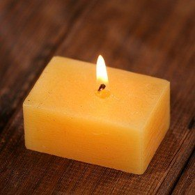 Scented rustic candle  6 cm - dark cream