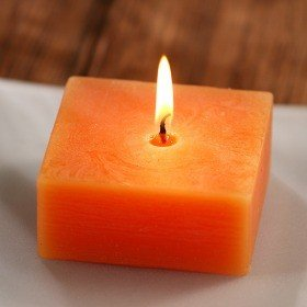 Scented rustic candle, orange, 10/10/4