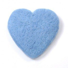 Set of 2 felt hearts 10 cm